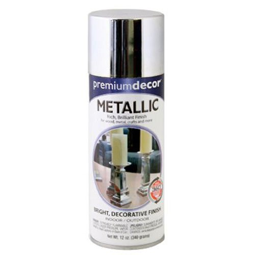(General Paint & Manufacturing PDS-94 Premium Decor Metallic Spray Paint with 360-Degree Spray Tip, Chrome)