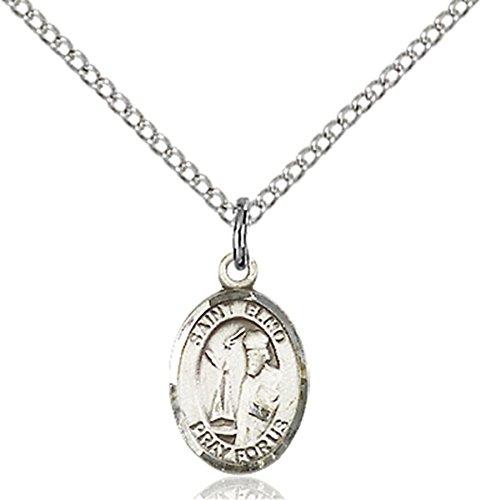 Sterling Silver Saint Elmo Petite Charm Medal, 1/2 Inch (St Elmo Medal)