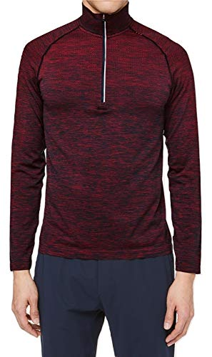 Lululemon Metal Vent TECH 1/2 Zip - SPYR/TRNV (Spicy Red/True Navy) (XL) - Metal Mens Sweatshirt