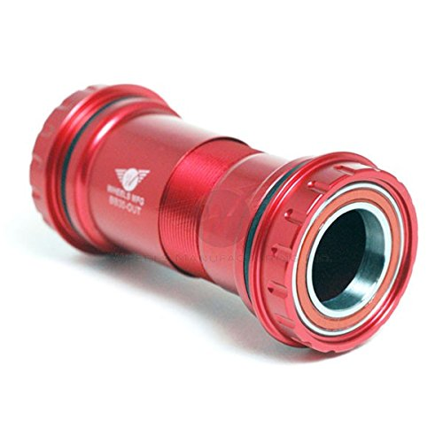 Wheels Manufacturing BB30 to Outboard Bottom Bracket with Shimano Compatible for AC Bearings, Red