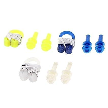 Amazon.com : eDealMax Amarillo Azul Claro de silicona Suave 2 ...