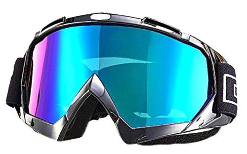 Price comparison product image gmgm Windproof Dustproof Ski Anti-fogging Soft Frame Motocross Motorcycle Dirt Bike Wrap Goggles Ski Goggles Black