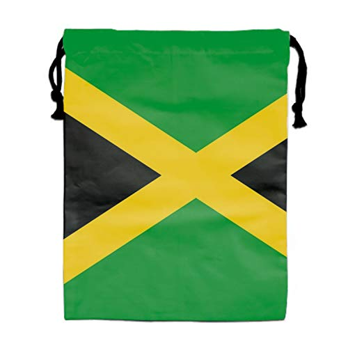 Burlap Bags with Drawstring Jamaica Flag Pouches Sacks Bag for Wedding Favors, Party, DIY Craft