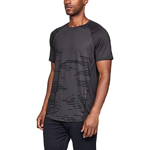 (Under Armour Men's MK1 Short sleeve Camo Print, Charcoal (019)/Black, XX-Large)