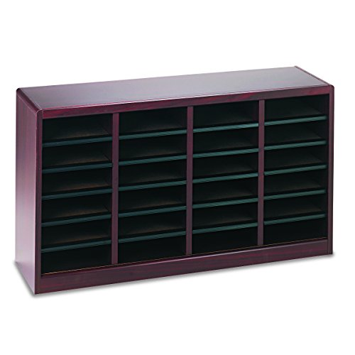 Safco Products 9311MH E-Z Stor Wood Literature Organizer, 24 Compartment, Mahogany by Safco Products