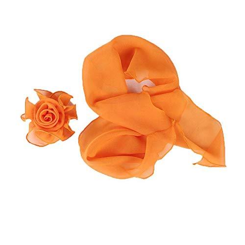 9f62ac6c79ae COMVIP Foulard Turban Fleur Femme Chiffon Multiusage Bandeau Cheveux Plage  Chic Orange  Amazon.fr  Bijoux
