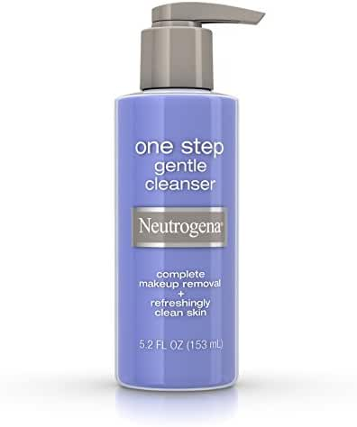 Neutrogena One Step Gentle Facial Cleanser And Makeup Remover, 5.2 Oz.