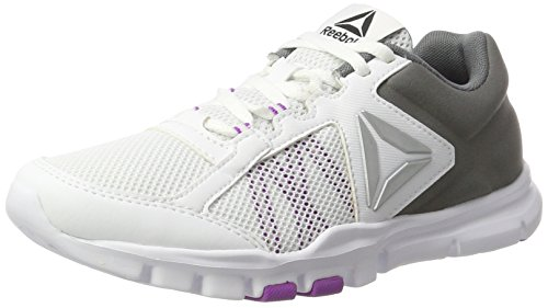 Reebok WoMen Yourflex Trainette 9.0 Mt Fitness Shoes White (White/Alloy/Vicious Violet)