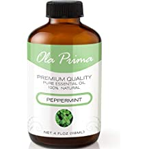 4oz - Premium Quality Peppermint Essential Oil (4 Ounce Bottle with Dropper) Therapeutic Grade Peppermint Oil
