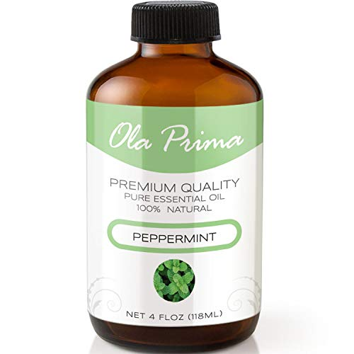 4oz - Premium Quality Peppermint Essential Oil (4 Ounce Bottle with Dropper) Therapeutic Grade Peppermint ()