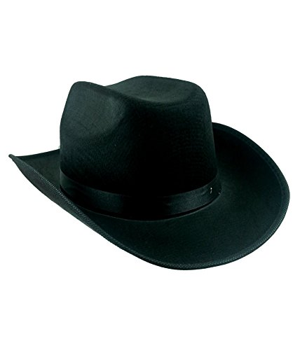 Adult Black Cowboy Hat Mens Womens Unisex Costume By Funny Party Hats®