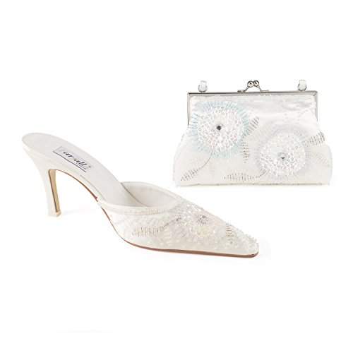 FARFALLA Multi Beaded Mules Set Ivory kKVsg7cETQ