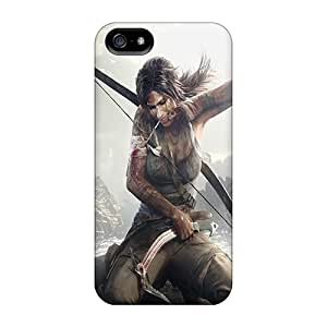 Shock Absorbent Cell-phone Hard Cover For Iphone 5/5s (rtr8258uxmu) Allow Personal Design Fashion Tomb Raider Series