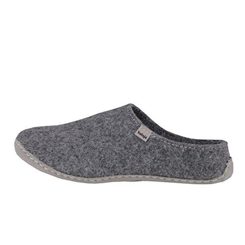 Women's EU Grey Slippers Felt Low in House Handmade Vegan Vollsjo a0dAa