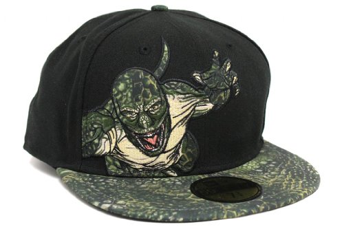 New Era Men's The Amazing Spider-Man 2012 Movie The Lizard Applique Olive Hat 7.875
