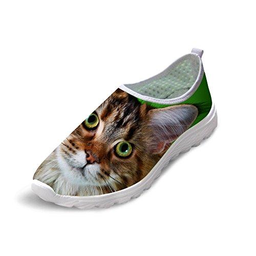 Per Te Disegni Personalizzati Animali Cane Gatto Stampa Donna Mens Casual Scarpe Da Passeggio Taglia Us5-us12 Cat-3