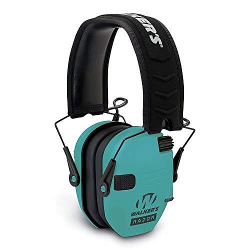 - Walker's Razor Slim GWP-RSEM-LTL Electronic Muff Light Teal, 2 'AAA' Batteris