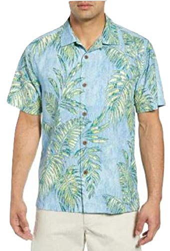 Tommy Bahama Garden of Hope and Courage Silk Blend Camp Shirt (Color: Sago Palms, Size XXL)