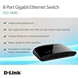 D-Link Ethernet Switch, 8-Port Gigabit Plug n