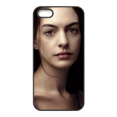 Anne Hathaway In Les Miserables coque iPhone 5 5S cellulaire cas coque de téléphone cas téléphone cellulaire noir couvercle EOKXLLNCD21676