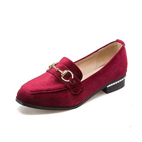 Schuhe Block Frauen Flache Quadrat Mund Kopf 1CdqdwX