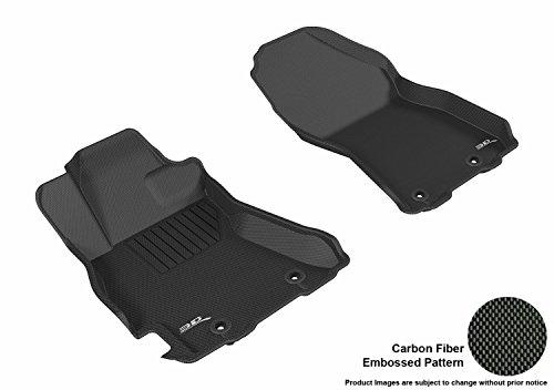 w Custom Fit Floor Mat for Select Subaru Legacy/Outback Models - Kagu Rubber (Black) ()