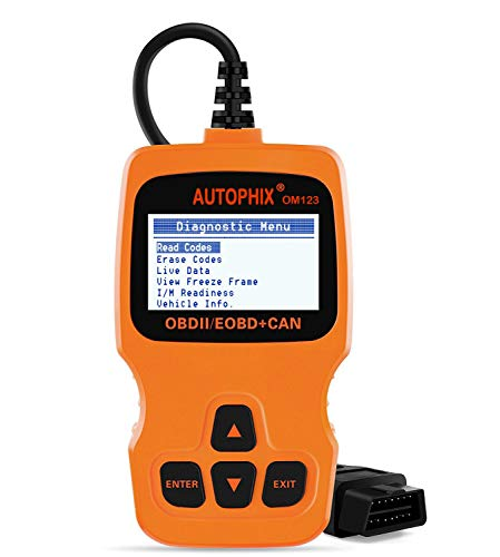 PHIX OM123 OBD2 Scanner Auto OBDII Scan tool for Vehicle Checking Engine Light Car Diagnostic Scan Tool- Orange ()