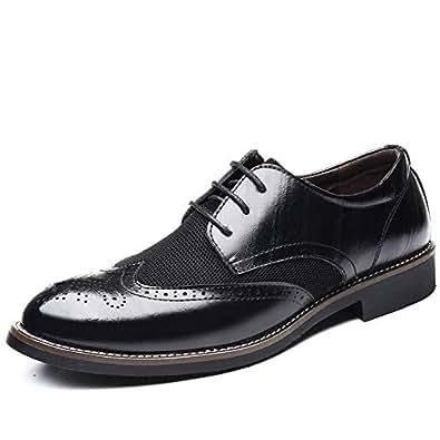 Men's Slip On Loafers Business Casual Comfortable Classic Leather Dress Shoes(Black 36/4 D(M) US Men)