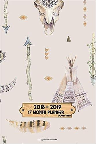 Amazoncom 17 Month Planner 2018 2019 Pocket Diary 4x6 Plan