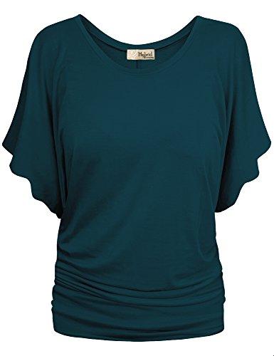 HyBrid & Company Womens Boat Neck Dolman Top Shirt KT44130 T