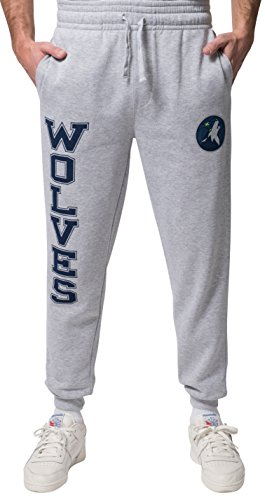 Minnesota Sweatpants - UNK NBA Men's Jogger Pants Active Basic Soft Terry Sweatpants, Heather Gray, Small