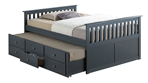broyhill kids marco island full bed with trundle gray