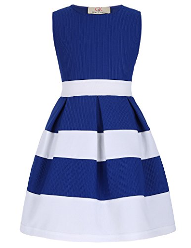 Girls Sleeveless Round Neck Cute Dresses 9yrs CL992-2