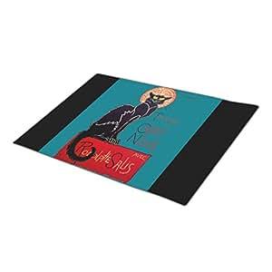 LittleTime Le Chat Noir Chat Noir Custom Doormat