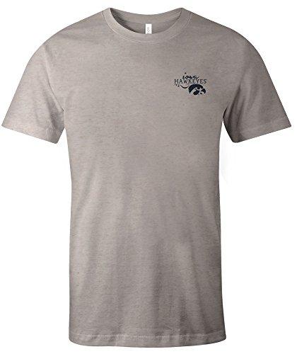 NCAA Iowa Hawkeyes Adult NCAA Hand Type Short sleeve Triblend T-Shirt,XXL,Oatmeal (Football Brown Iowa Hawkeyes)
