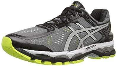 ASICS Men's Gel Kayano 22 Running Shoe, Charcoal/Silver/Lime, 6 M US
