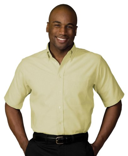 Edwards Short Sleeve Oxfords (Edwards Garment Men's Short Sleeve Oxford Shirt, 6XL T - Yellow)