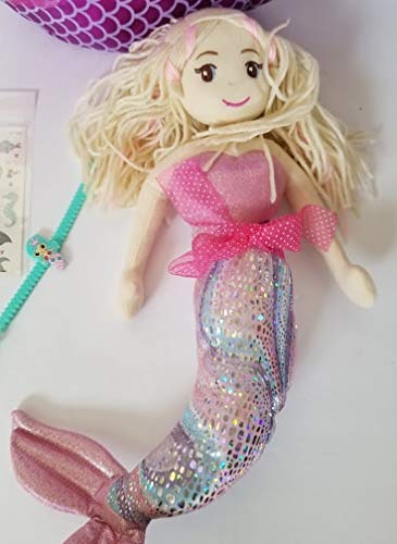Queen of the Castle Mermaid Themed Easter Basket Includes Mermaid 15'' Tall with Curved Tail by Queen of the Castle (Image #2)