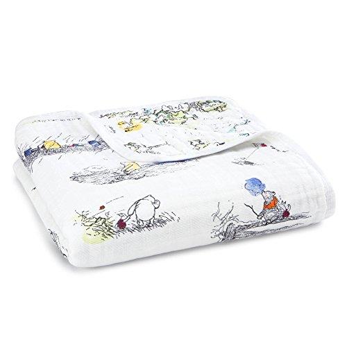 aden + anais Disney baby dream blanket, 4 layers 100% cotton muslin, 120cm...