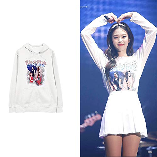 babyHealthy Kpop Blackpink Hoodie Jisoo Jennie Rose Lisa Forever Young Same Style Sweatshirt Pullover Jacket ()