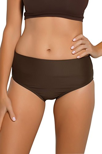 Hapari Brown Tummy Tuk Swim Bottom