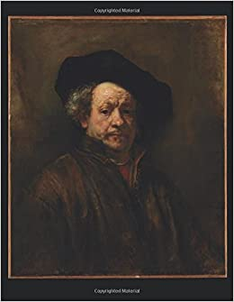 100 page unruled blank notebook self portrait rembrandt van rijn 1660 85 x 11 216 mm x 279 mm 50 sheets page numbers table of contents journal diary sketch painting