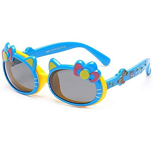 Occhiali Bambini Blu Di Cover Arco Carino Gatto Da Orecchie 4 10 Ragazza Polarized Sunglasses Flip Sole QrWECBedxo