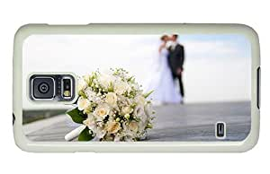 Hipster cassette Samsung Galaxy S5 Case Happy Wedding Couple PC White for Samsung S5 by lolosakes