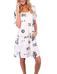 Ingear Beach Dress Short Cotton