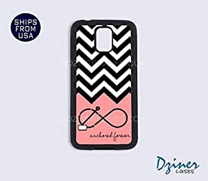 Galaxy S3 Case - Black White Chevron Anchored Forever