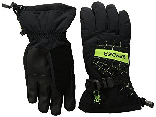 Spyder Boy's Overweb Ski Glove, Black/Fresh, Large