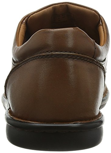 Clarks Butleigh Edge Wide Fit 7.5 UK Tan Leather
