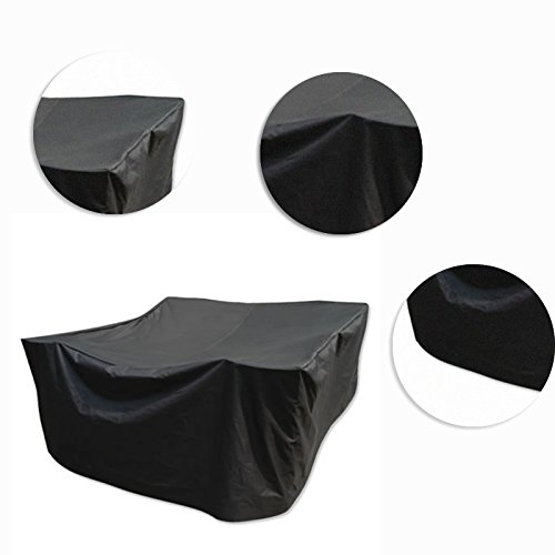 Square PVC Coated Waterproof Outdoor Furniture Cover Black 98