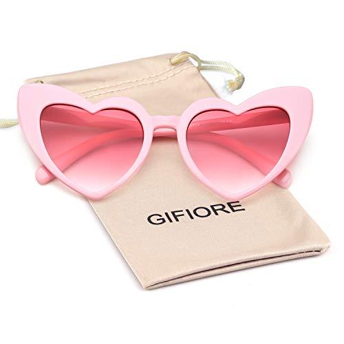 Price comparison product image Clout Goggle Heart Sunglasses Vintage Cat Eye Mod Style Retro Kurt Cobain Glasses